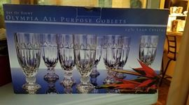 Olympia Crystal Goblets