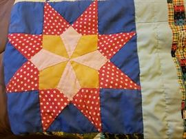 Hand stitched patchwork quilt
