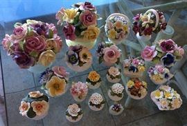 ICT002 Beautiful Bone China Collectible Flowers