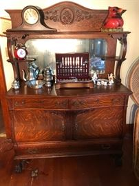 Over the top elegant finely carved buffet cabinet - one of the nicest I have seen
