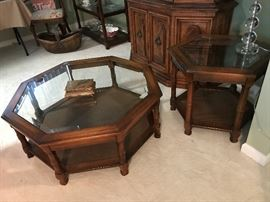 Coffee Table and End Table - cain bottom