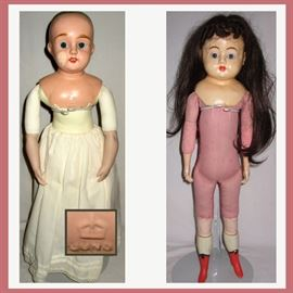 2 Antique Dolls, German Juno; there is a HUGE Antique and Vintage Doll Collection