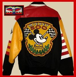 Jeff Hamilton Mickey Mouse 500 Racing Jacket in Excellent Condition