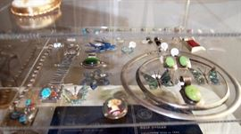 Sterling Jewelry inc. enamel pieces, mexican butterflies, Swedish Bird, Mexican Watch band and more
