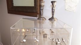 Sterling pieces includ. Pr. Candlesticks