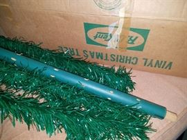Vintage R. O. Kent green vinyl Christmas Tree