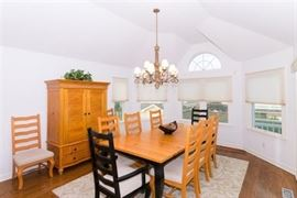 Dining table & chairs; sorry - light fixture is sold