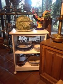 Assorted ceramic accessories, bluebonnet dinnerware and other items reduced 50% to close estate.