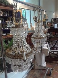 Two coordinating chandeliers reduced 50%