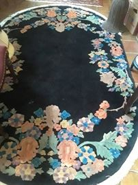Oval 1940s Chinese rug. Priced to sell.