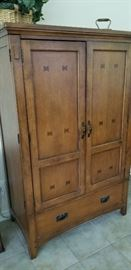 Sturdy Western inspired  armoire