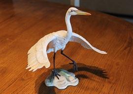 "Boehm porcelain ""White Egret"""