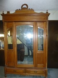 Gorgeously Detailed Antique Armoire