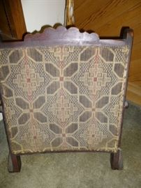 Arts and Crafts Needlepoint Fireplace Screen