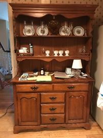 Kitchen Hutch (maple?) - 48w x 18d x 73.5 h