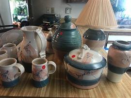 15 pc  stoneware set