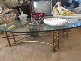 Amazing Hollywood Regency SILAS SEANDEL designer coffee table...