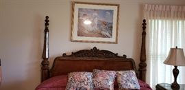 four poster king size bed headboard/footboard