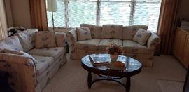 Sherrill sofa, love seat, coffee table