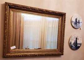 mirror, plates