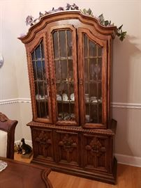 Drexel walnut china cabinet