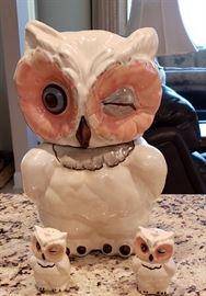 winking owl cookie jar