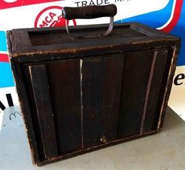 Antique Handled Wood Box