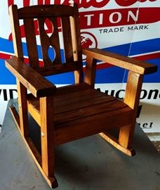 Vintage Wood Child's Rocker