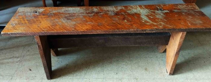 Antique Wood, Pegged Bench
