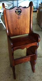 Vintage Wood Child's Chair
