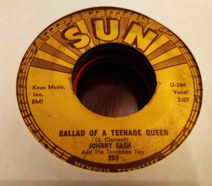 Vintage 45 Record- Johnny Cash (Sun Label)