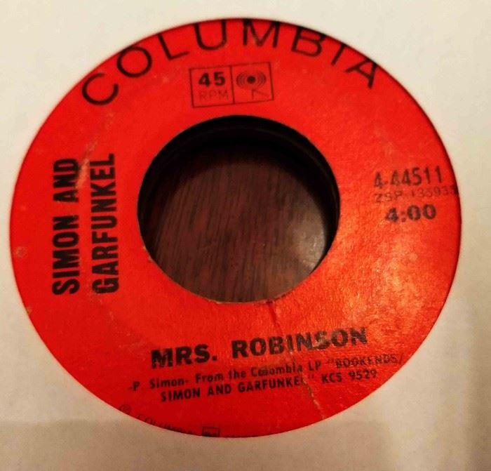 Vintage 45 Record- Simon & Garfunkel