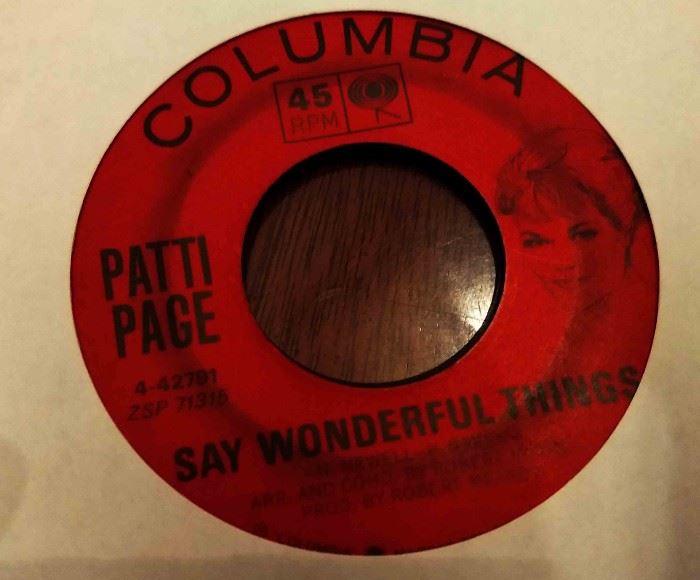 Vintage 45 Record- Patti Page
