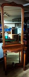 Vintage Pier Mirror & Table