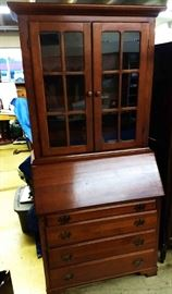 Vintage Slant Front Writing Desk/Cabinet