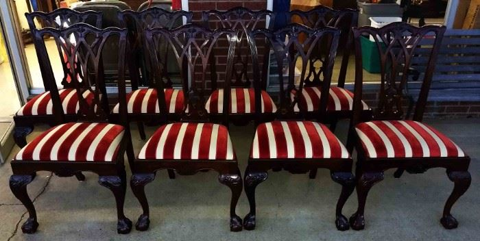 Set of 8 Drexel Heritage Dining Room Chairs