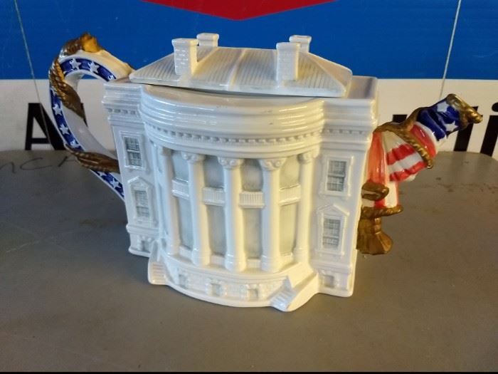 Vintage White House Tea Pot