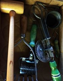 Box Lot- Vintage Kitchen Tools