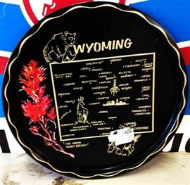 Vintage Wyoming Collectible Plate