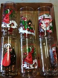 Box Lot-Coca-Cola/Christmas Glasses