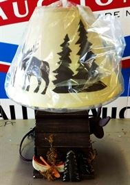Cabin-style Table Lamp, NOS