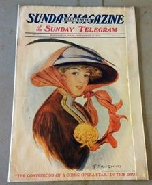 Early 1900s Earl Christy Magazine Cover Artwork (Complete Magazine)