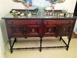 GORGEOUS ANTIQUE BUFFET, MATCHES DINING TABLE.