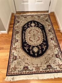 4 x 6 wool and silk area rug