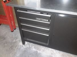 Tool cabinet work bench