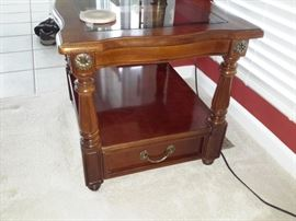 Lamp table / with glass  insert