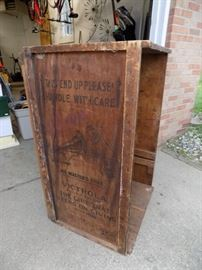 Victrola shipping container/box