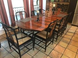 Fine Replica Georgian III Style  Mahogany Dining by Henredon Furniture Company and is marked as such.