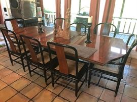Chinese Style Dining Chairs by Henredon