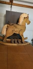 Child size wooden rocking horse
